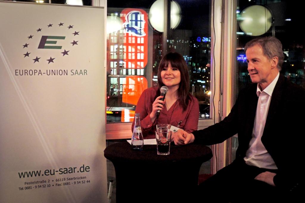 Rendezvous mit Europa - Begrüßung von Jo Leinen durch Linda Jaberg