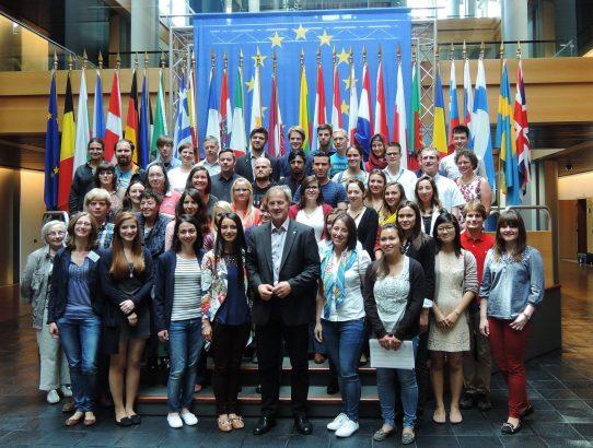 Fahrt zum Europäischen Parlament, 11. Juni 2015