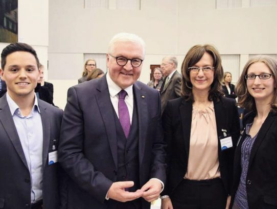 JEF & EU Saarland mit Frank-Walter Steinmeier in Diskussion