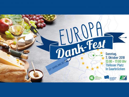 Europa-Dank-Fest am 07.10.18 in Saarbrücken